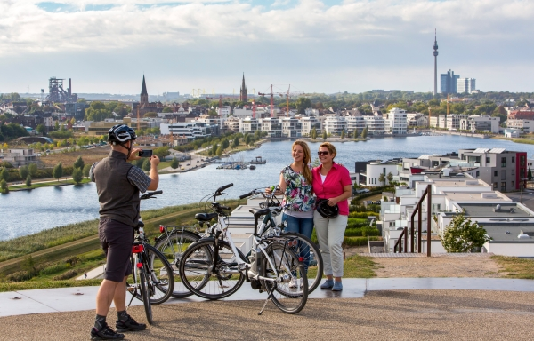 Radfahrer am PHOENIX See