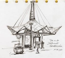 Pylon an der Reinoldikirche von Guido Wessel